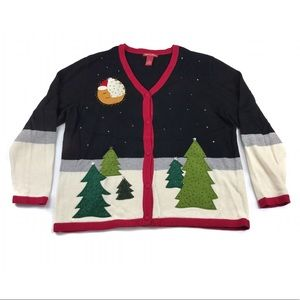 Merry & Bright Holiday Christmas Cardigan Sweater